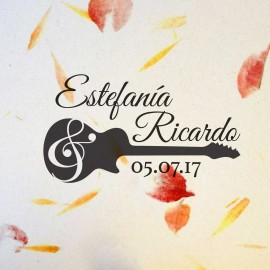 "Sello boda ""Guitarra"""
